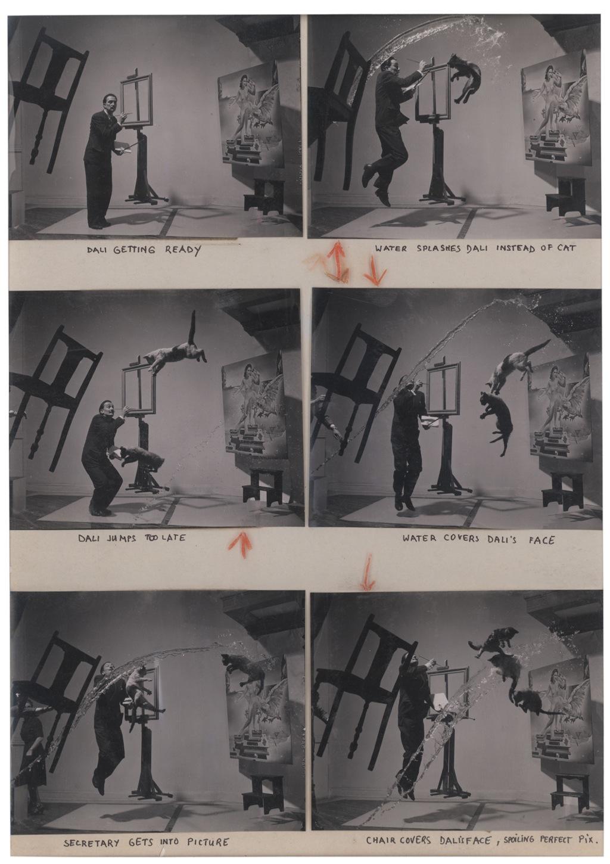 "USA. 1948. Salvador DALI, Spanish painter. ""Dali-Atomicus."""
