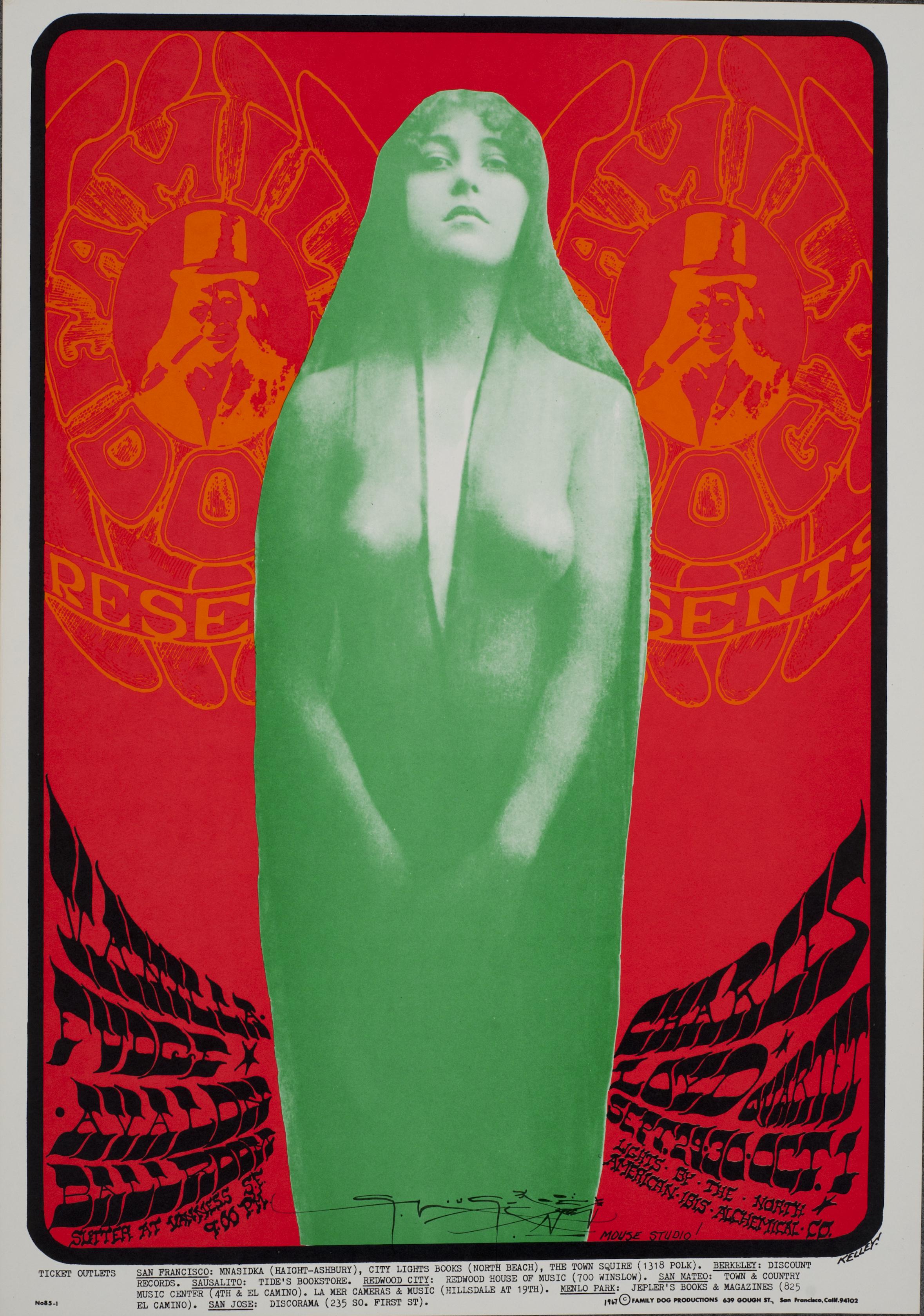 FD-85_Alton Kelley_Avalon Ballroom 1967_Vanilla Fudge